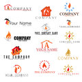Collection of Fire logos Royalty Free Stock Image