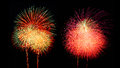 Collection of fireworks. Royalty Free Stock Photo