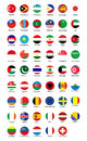 Collection of flag button design. Royalty Free Stock Photo
