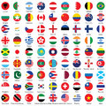 Collection of flag button icons design Royalty Free Stock Photo