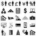 Collection flat icons. Finance symbols. Vector Stock Photos