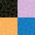 Collection of  floral patterns - vector Royalty Free Stock Photos