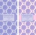 Collection of floral seamless patterns for chocolate packaging Royalty Free Stock Photo