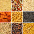 Collection of food backgrounds Royalty Free Stock Photos