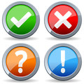 Yes No Question Answer Buttons Royalty Free Stock Photo