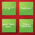 Collection of four green paper notes Royalty Free Stock Photography