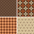 Collection of four seamless patterns Royalty Free Stock Image
