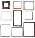 Collection of frames for your pictures big isolated Royalty Free Stock Images