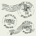 Collection of french vintage stamps Royalty Free Stock Photo