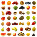 Collection of fresh and colorful fruits and nuts Royalty Free Stock Image