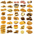 Collection of freshly baked buns,cookies and bread Royalty Free Stock Photo