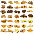 Collection of freshly baked pastry Stock Photos