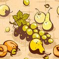 Collection fruit on a braided background Royalty Free Stock Photos