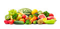 Collection fruit and vegetables Royalty Free Stock Photo