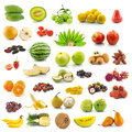 Collection of fruit on white background Stock Photography