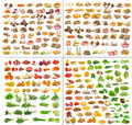Collection of Fruits and vegetable isolated