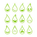 Collection of a funny drops symbols emotions different Stock Images