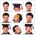 Collection of a funny guy Stock Photography