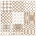 Title: Collection of geometric seamless patterns