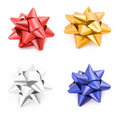 Collection of gift bows Royalty Free Stock Photo
