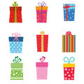 Collection of gifts for christmas Royalty Free Stock Photos