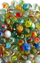Collection of glass marbles Royalty Free Stock Photos