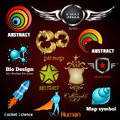 Collection of glossy and 3d vector icons Stock Photography