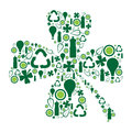 Collection go green symbols clustered shape clover Royalty Free Stock Photo