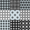 Collection of graphical vector seamless patterns Royalty Free Stock Photo