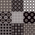 Collection of graphical vector seamless patterns abstract geometric wallpapers ornamental decorative background for cards Royalty Free Stock Images