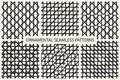 Collection of grid seamless patterns.