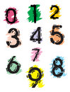 Collection of grunge numbers Royalty Free Stock Photography