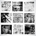 Collection of grunge textures vector all elements on separate layers Stock Photos