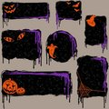 Collection of grungy halloween design elements Royalty Free Stock Photo