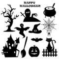 Collection of Halloween elements Stock Images