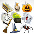 Collection of Halloween related objects Royalty Free Stock Photos