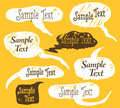 Collection of hand draw speech bubbles vector art Stock Photos