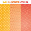 Collection of hand draw vector patterns. Royalty Free Stock Photo