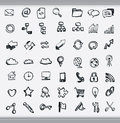 Collection of hand drawn icons Stock Photo