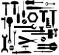 Collection Hand tools and DIY tools Stock Images