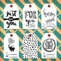Collection handdrawn in the style of the lovely ready-made gift tags with love. Vector