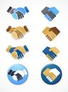Collection of handshake icons and elements Royalty Free Stock Image