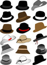 Collection of hats Stock Photography