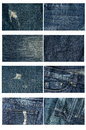 Collection of highly detailed of jeans background and texture Royalty Free Stock Photography