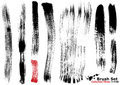 Collection of highly detailed vector brushes - 3 Stock Photography
