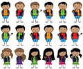 Collection of Hispanic or Latino Students in Vector Format