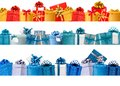 Collection of holiday banners with boxes Royalty Free Stock Photo