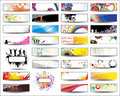Collection Horizontal Headers Stock Photos