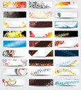 Collection Horizontal Headers Royalty Free Stock Photo