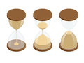 Collection of hourglasses on white background sand clock flat d vector isometric illustration Stock Photo